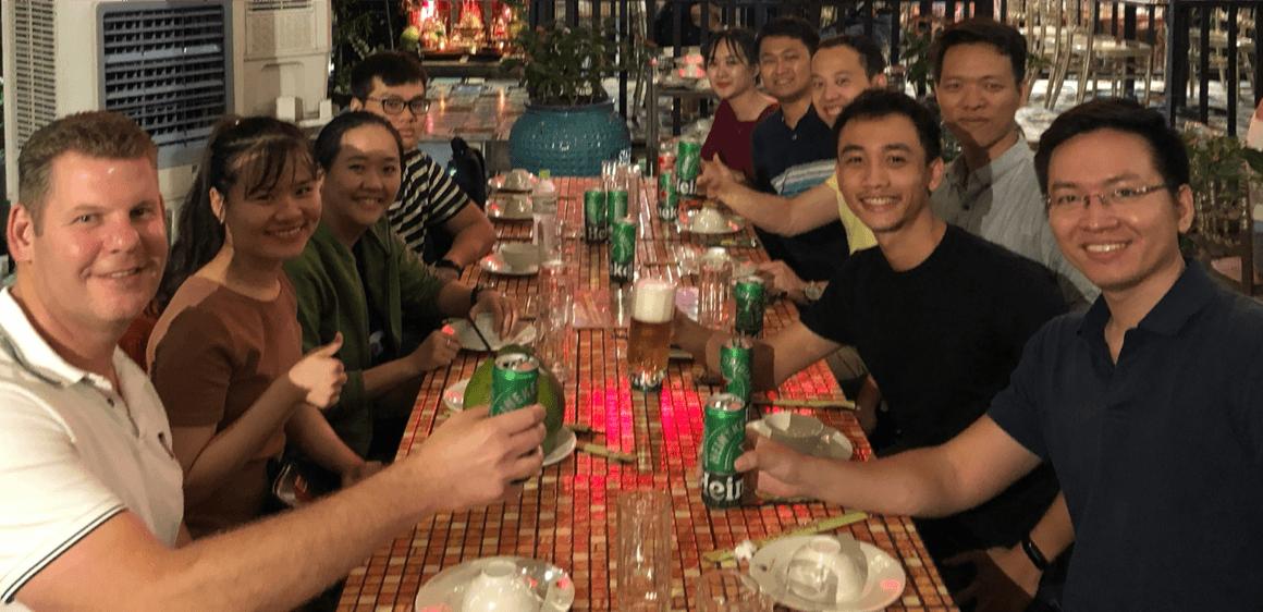 Roel en Thanh op bezoek 2019 in Ho Chi Minh, Vietnam